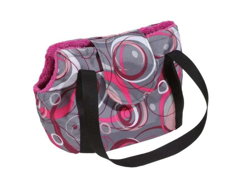 b4bed24d56 ... Taška na psa - kabelka Mini madonna šedá s pruhami - s hřejivou pod